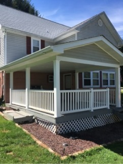 Porch roof and railing 2